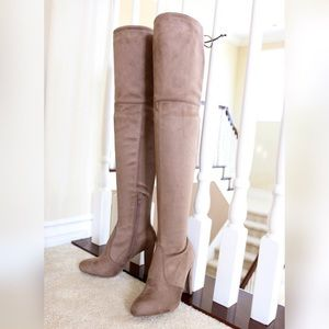 Amaya-01 taupe stretch over the knee boots
